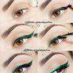 emerald cat eye liner tutorial bmodish