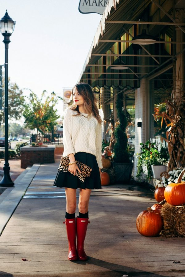 fall_outfit_ideas with hunter boots bmodish