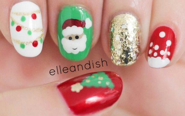 freehand christmas nail design bmodish