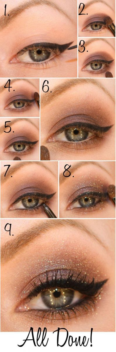 glitter cat eye tutorial bmodish