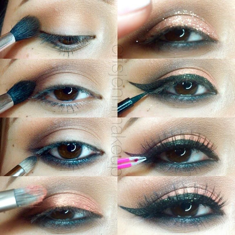 Simple cat eye makeup tutorial