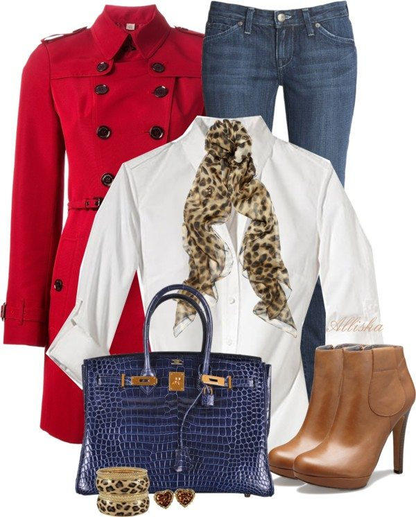 how to wear red trench coat polyvore outfit bmodish
