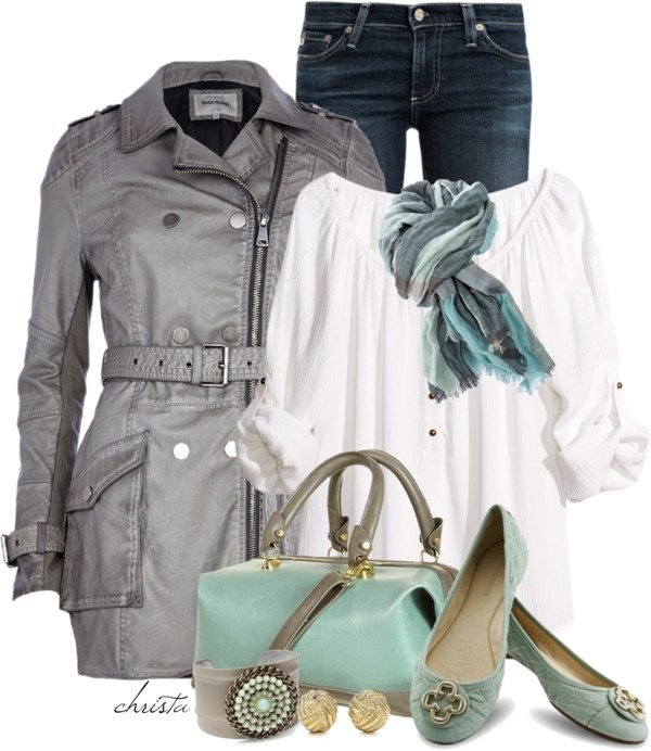leather trench coat cute fall outfit bmodish