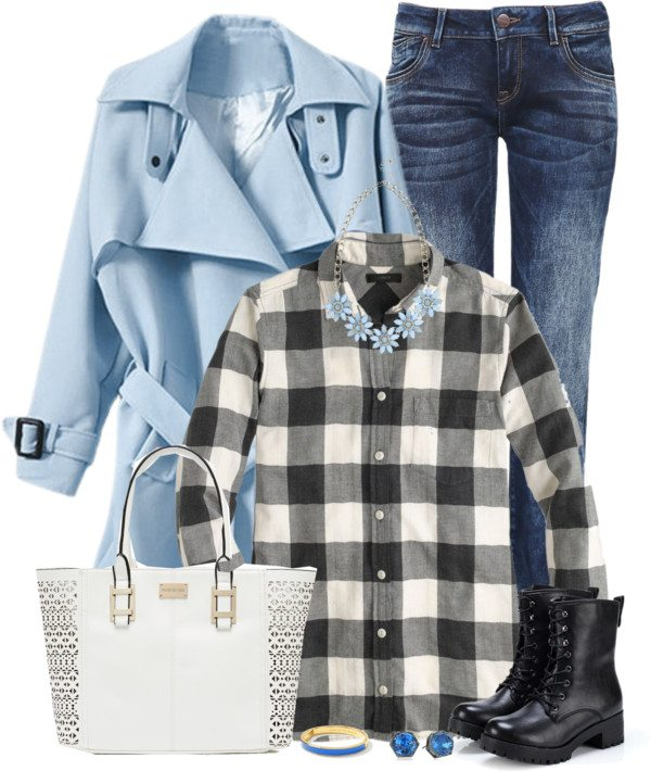 light blue trench coat fall outfit bmodish