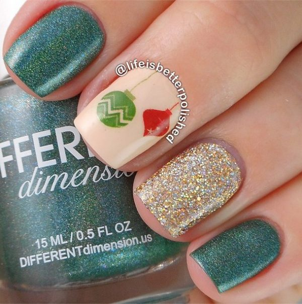 20 Beautiful Christmas Nail Art Designs Be Modish