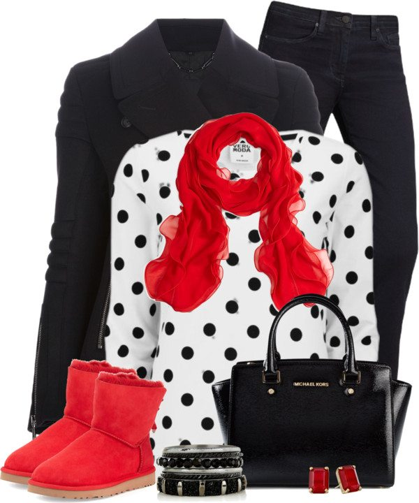 polyvore winter outfit with Uggs in Fun Colors bmodish