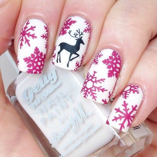 purple snowflakes nails bmodish