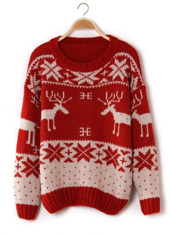 red christmas jumper sweater bmodish