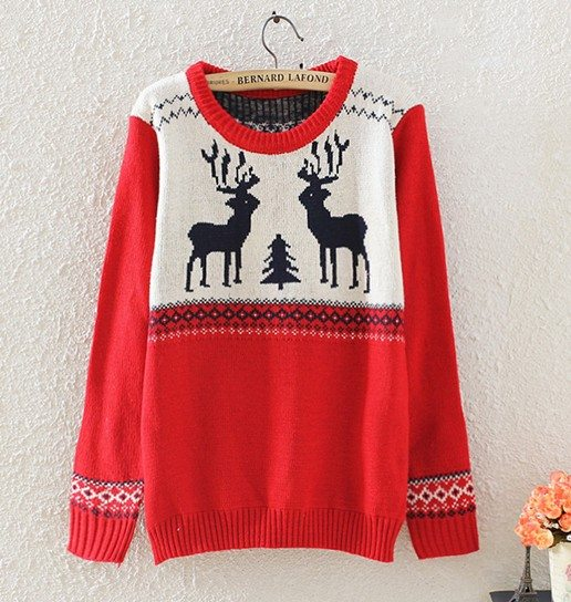 red cute christmas sweater bmodish