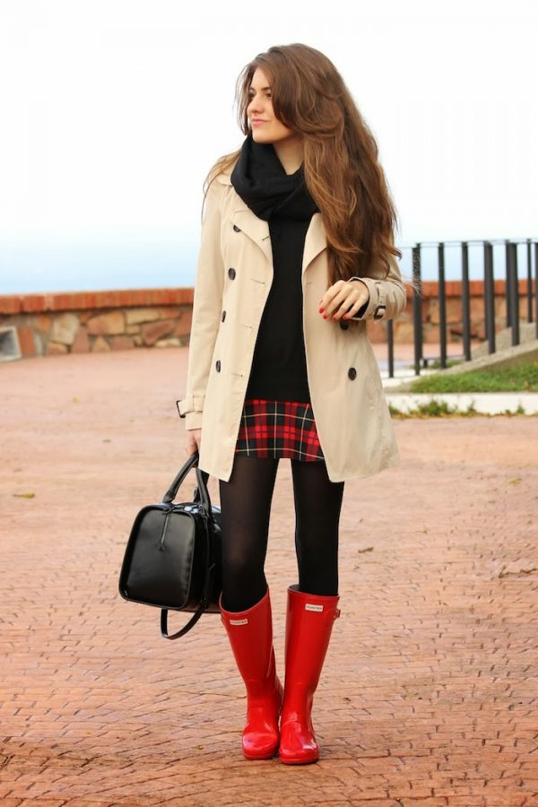 red hot hunter boots rain boots for fall bmodish