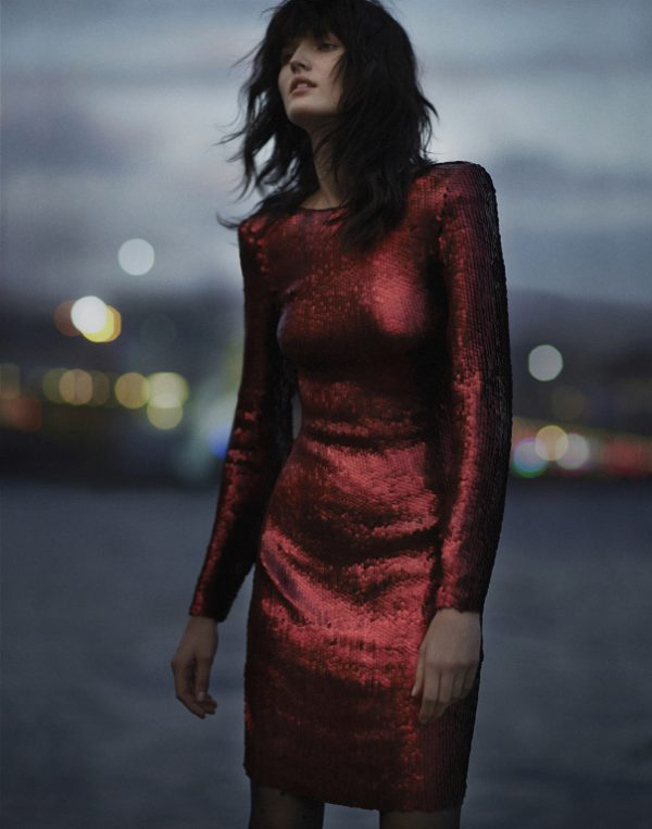 red sequin dress new years eve outfit idea bmodish