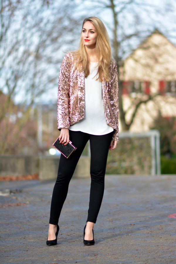 sequin blazer outfit idea bmodish