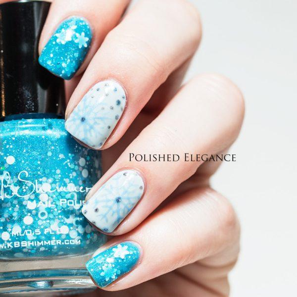 snow crystal nails bmodish