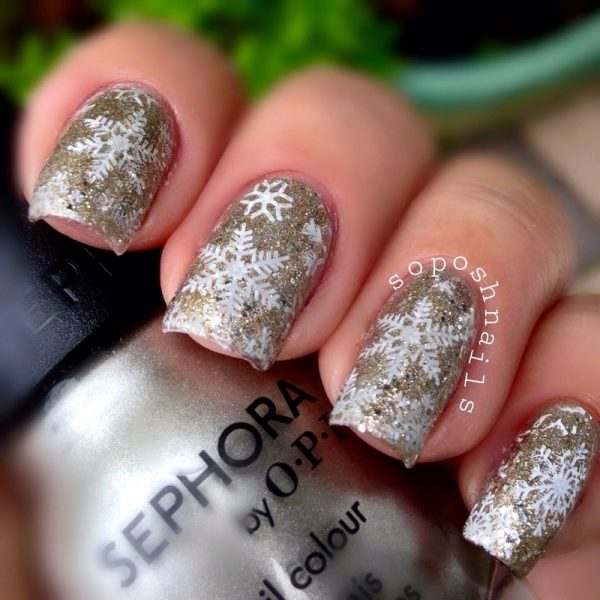 snowflakes and campagne glitter bmodish