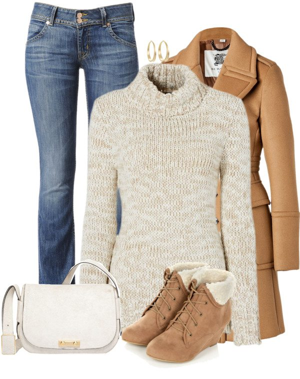 winter outfit with wedge boots bmodish