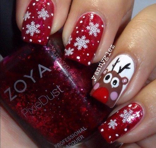 winter snowflake christmas nailart bmodish