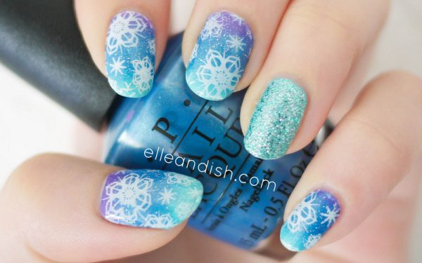 winter snowflake nails bmodish