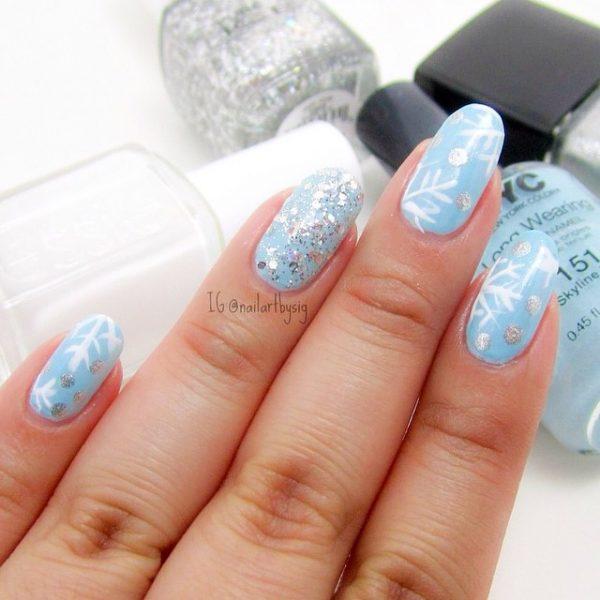 winter snowflakes nail art bmodish