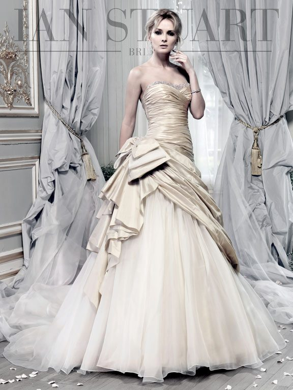 Lady Luke Collections Beauty Queen platinum wedding dress via bmodish