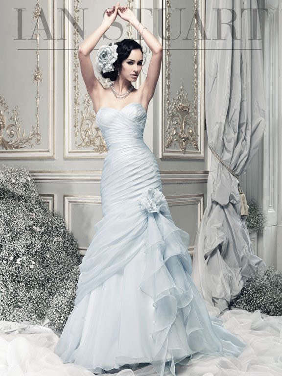 Lady Luke Collections Bewitched pale blue1 wedding dress via bmodish