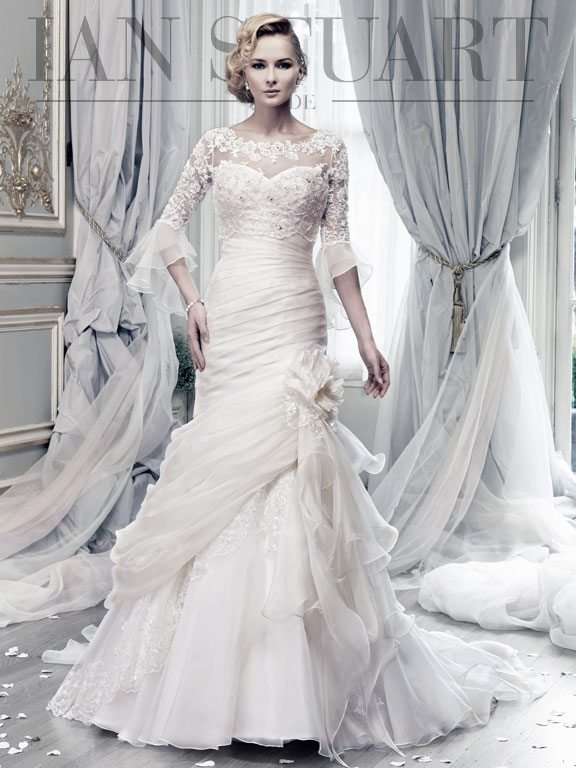 Lady Luke Collections Bewitched Lace ivory wedding dress via bmodish
