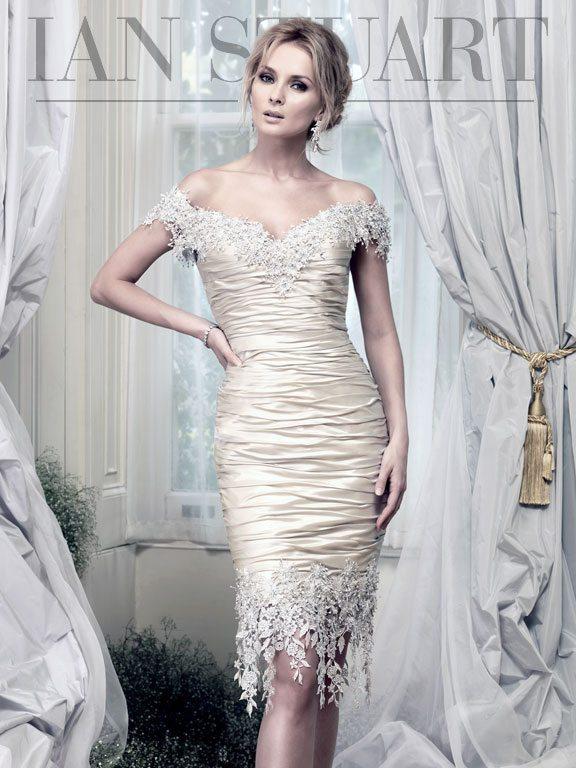 Lady Luke Collections Brunei short platinum wedding dress via bmodish