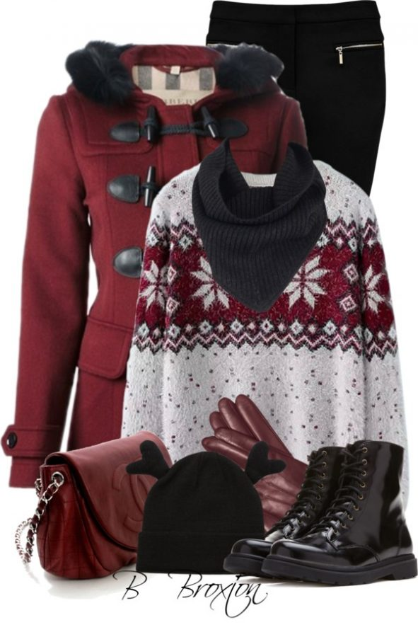 duffle coat cute winter outfits for school