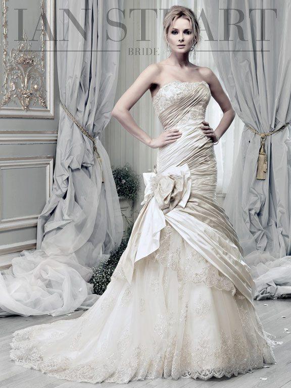 Carousel-ivory-platinum wedding dress via bmodish
