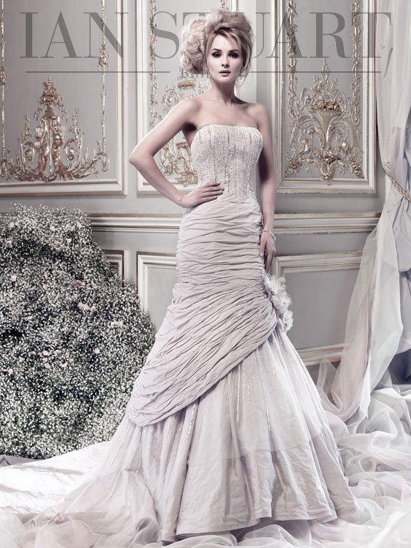Lady Luke Collections Cosmoplitan pale lilac wedding dress via bmodish