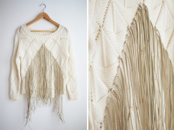 DIY FRINGED KNIT via bmodish