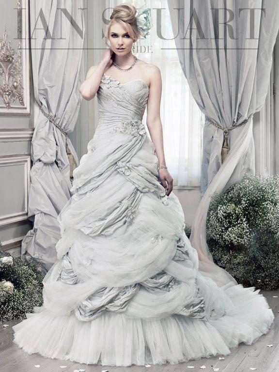 Hummingbird-pale-blue wedding dress via bmodish