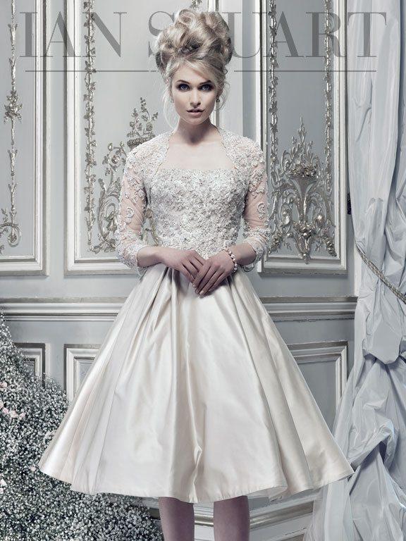 Lady Luke Collections I Love Lucy taupe wedding dress via bmodish