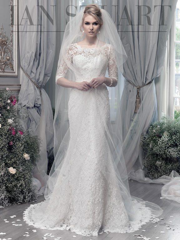 Joy-ivory wedding dress via bmodish