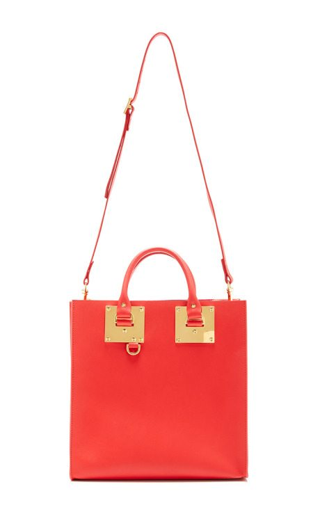 Large Red Square Albion Tote sophie hulme via bmodish
