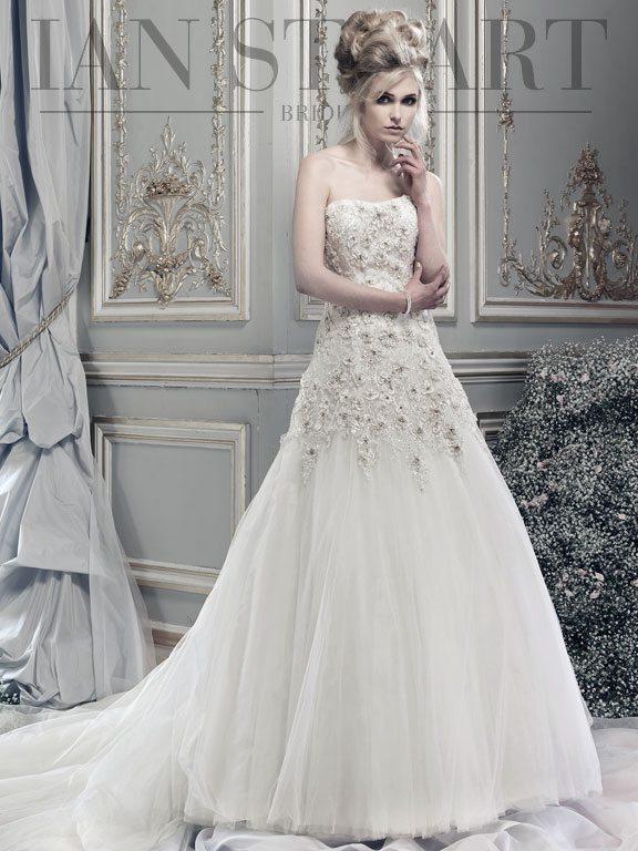 Lipizzaner-ivory wedding dress via bmodish