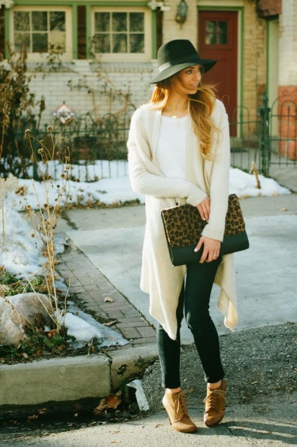 long cardigan casual fall outfit