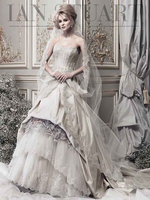 Lady Luke Collections Madame de Luxe taupe wedding dress via bmodish