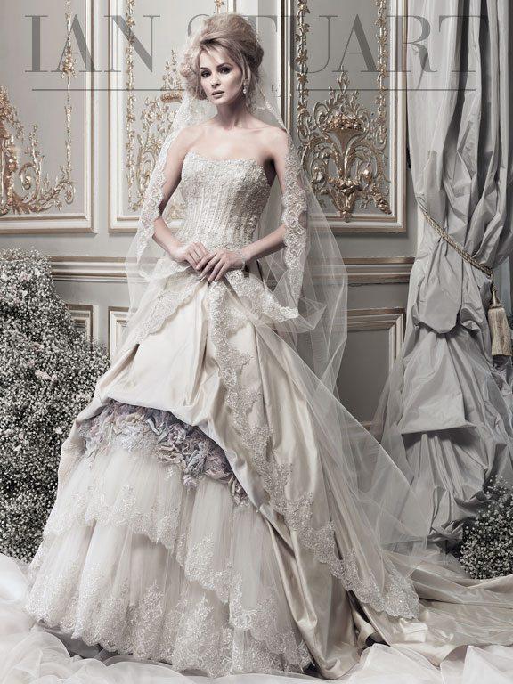 Lady Luke Collections Madame de Luxe taupe wedding dress via bmodish