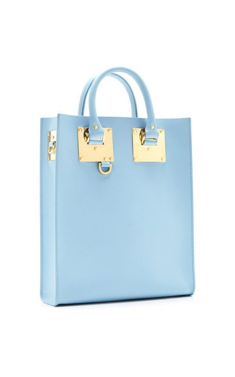 Mini Blue Albion Tote Bag sophie hulme via bmodish