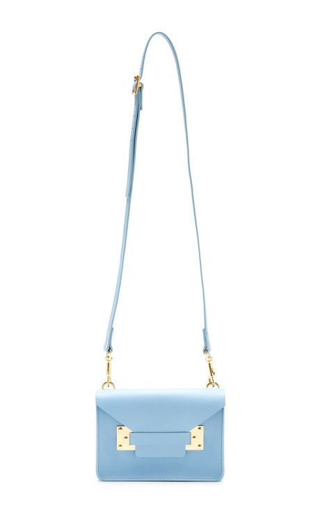 Mini Blue Milner Envelope Bag sophie hulme via bmodish