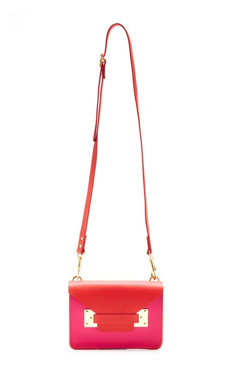 Mini Red & Fuchsia Envelope Bag sophie hulme via bmodish