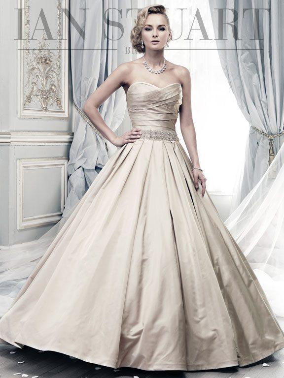 Moon_River-taupe wedding dress via bmodish