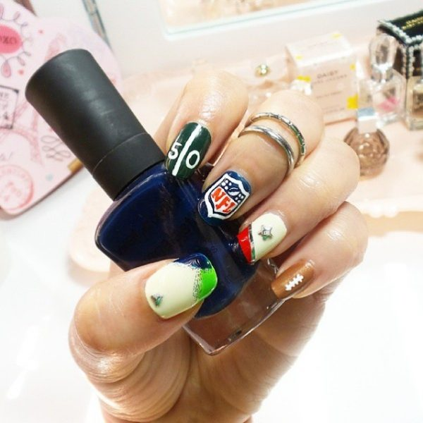 NFL super bowl nails of the day bmodish