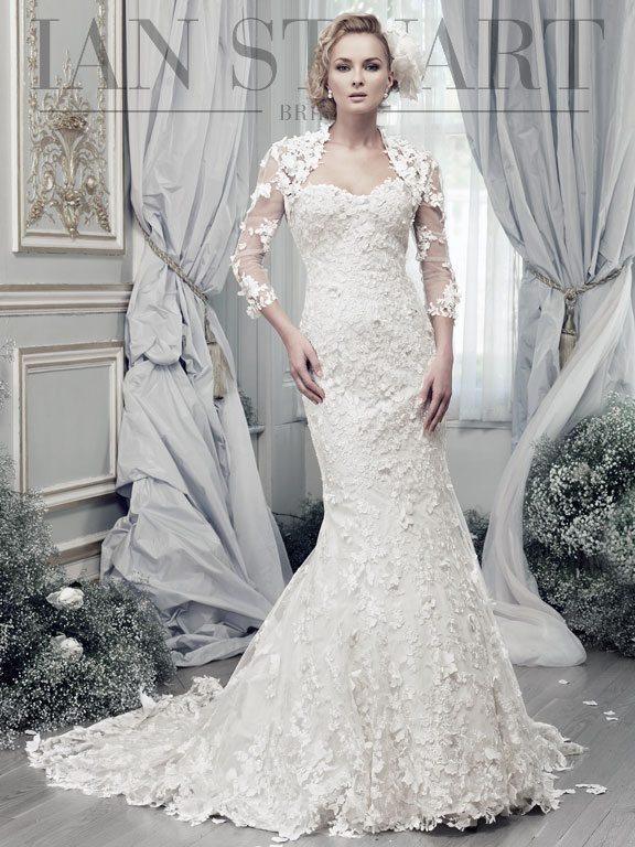 Lady Luke Collections Papillon ivory wedding dress via bmodish