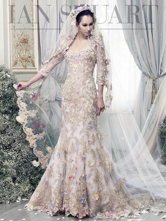 Lady Luke Collections Papillon lilac wedding dress via bmodish