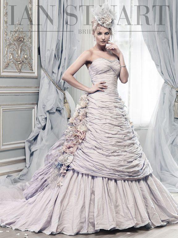 Lady Luke Collections Rosa Montana pale lilac wedding dress via bmodish