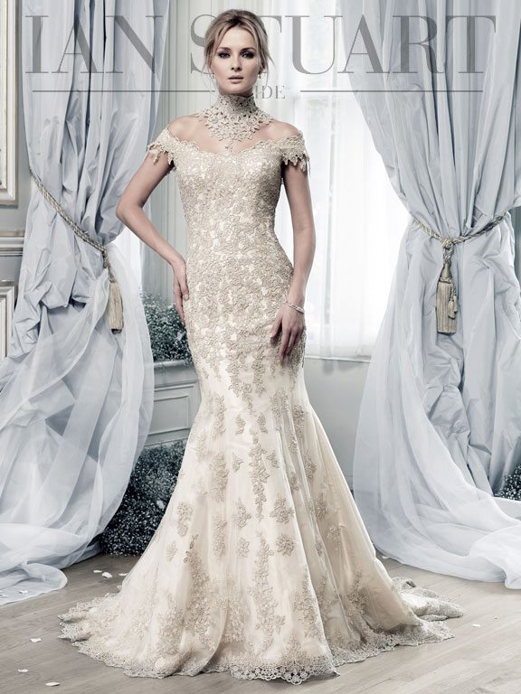 Lady Luke Collections Salamanca gold wedding dress via bmodish