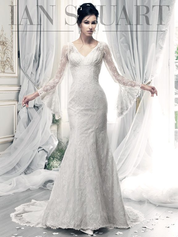 Stevie-ivory wedding dress via bmodish