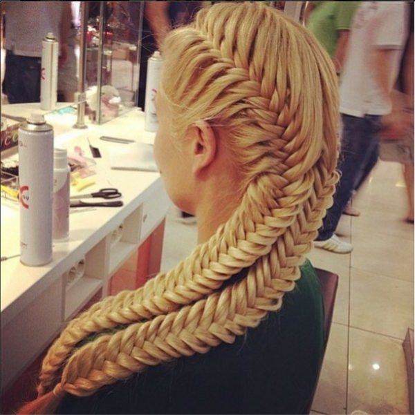 blonde combo braid hairstyle bmodish