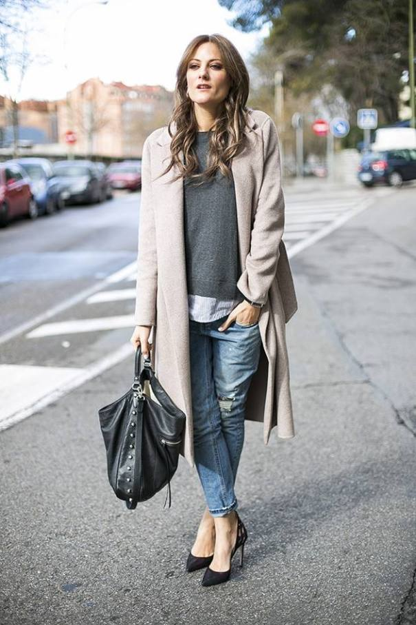 boyfriend jeans fall layered outfit bmodish